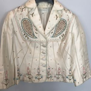 Banana Republic silk beaded blazer size 4